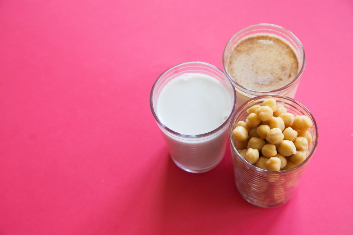 kokosmelk, havermelk en kikkererwten-