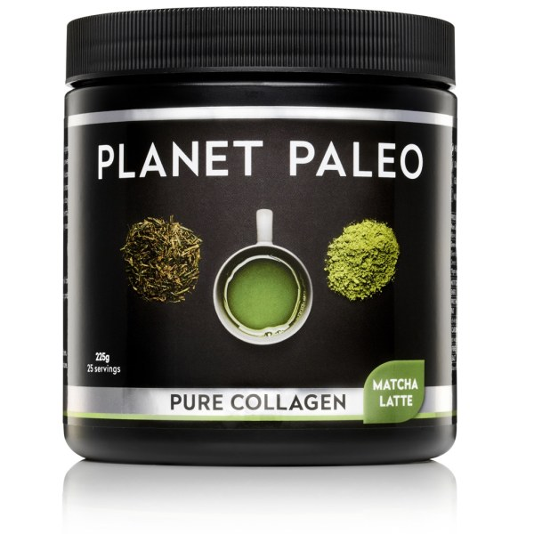 Pure Collagen Matcha Latte collageen poeder Planet Paleo