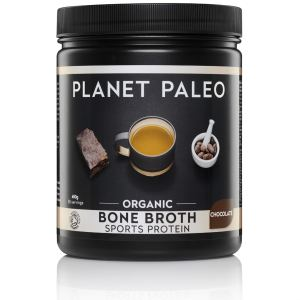 Chocolade proteine Bone Broth Sport Protein Chocolate Bio potje