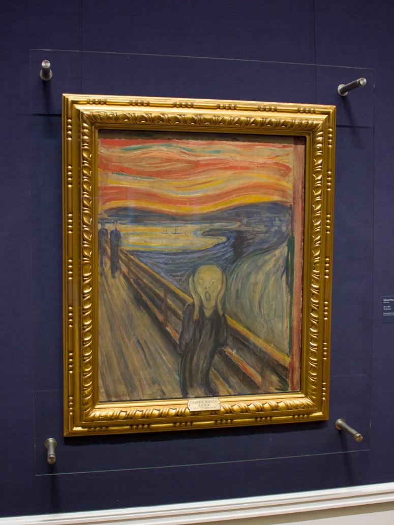 Het beroemde schilderij Scream of De Schreeuw van Edvard Munch.