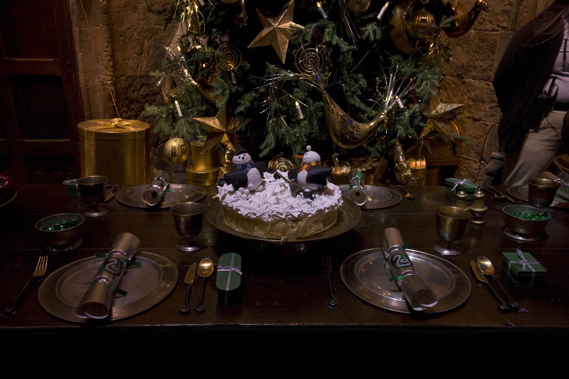 Kerstdiner in de Grote Zaal in de Warner Bros Studio Tour