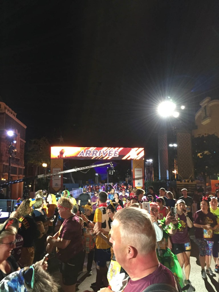 Finish van de 5 kilometer van de Disney run