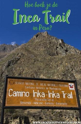 Pinterestafbeelding: Hoe boek je de Inca Trail in Peru?