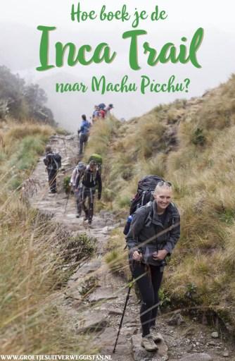 Pinterestafbeelding: Hoe boek je de Inca Trail naar Machu Picchu?
