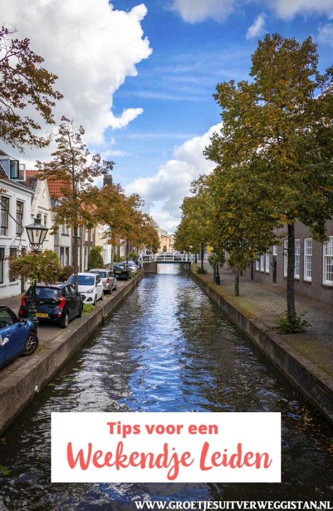 Pinterestafbeelding: een gracht in Leiden