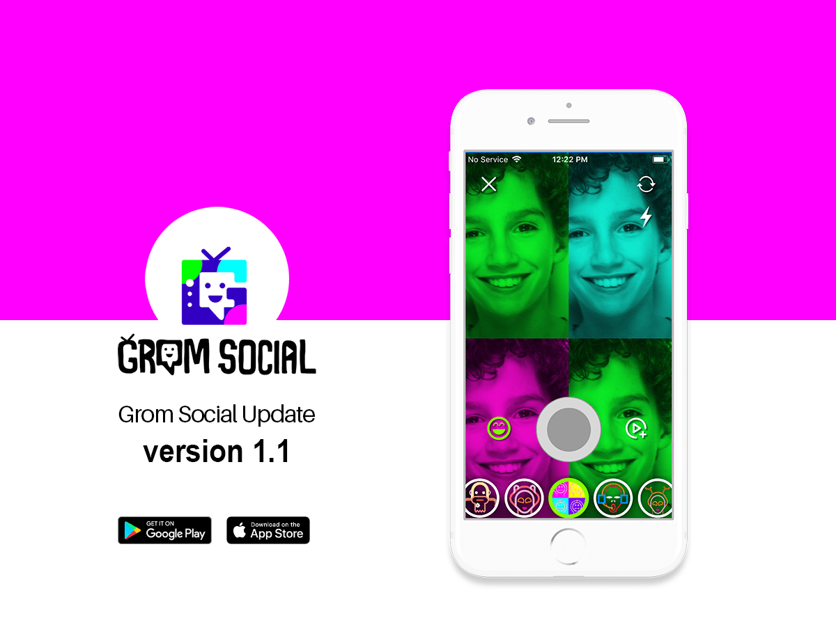 Grom Social Update Version 1.1