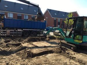 Tuin uitgraven