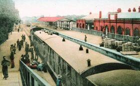 中華民国当時の北平(北京)西直門鉄道駅