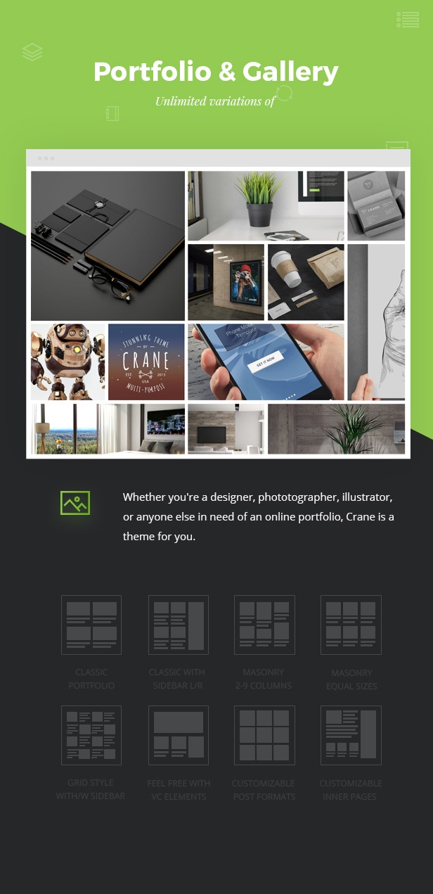We created Outstanding Portfolio and Galleries widgets