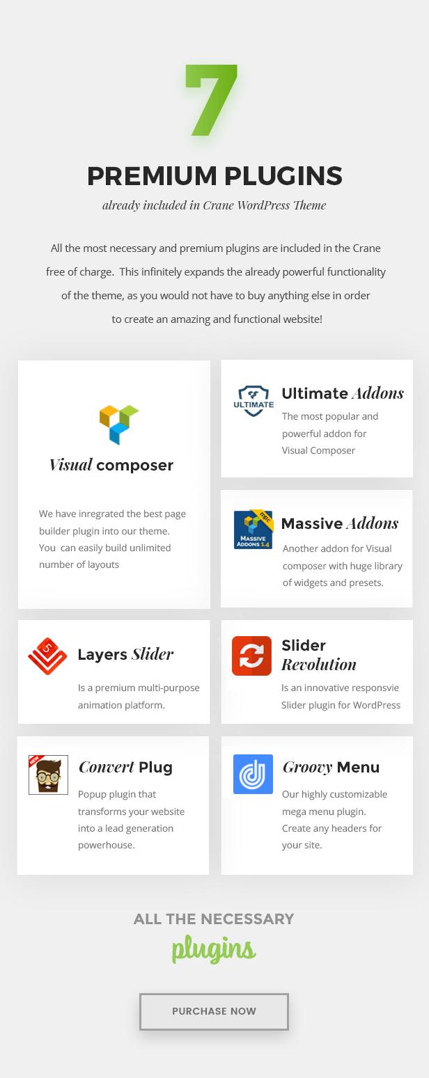 7 Premium Plugins Included in the Bundle