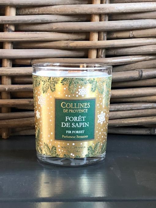 Collines de Provence kerstkaars-dennen @grootgenot.com