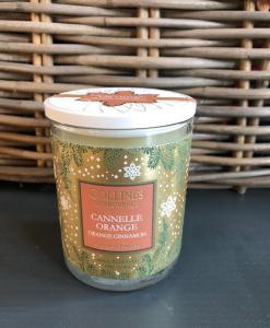 Collines de Provence kerstkaars kanneel-sinaasappel @grootgenot.com