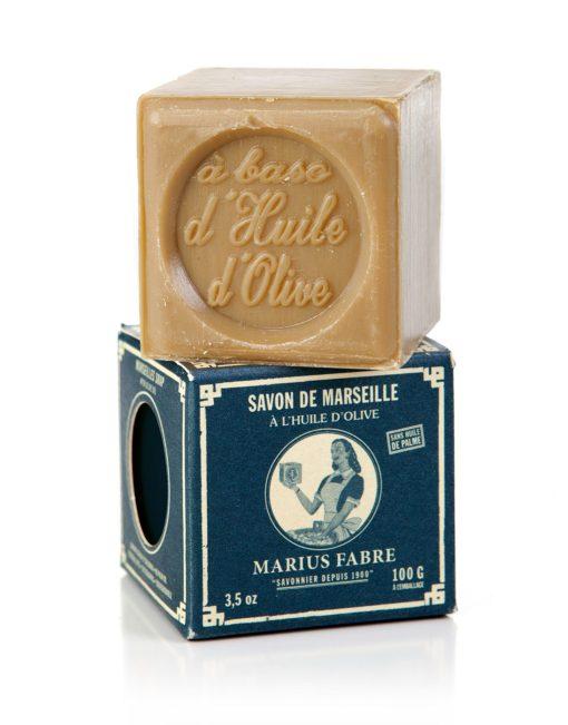 Marseille zeep van Marius Fabre met olijfolie bij GrootGenot.com