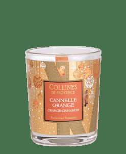 Collines de Provence kerstkaars sinaasappel, kaneel