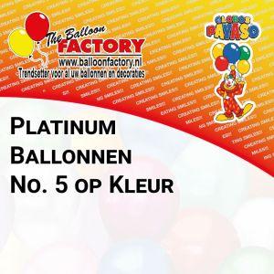 Platinum ballonnen no 5 op kleur