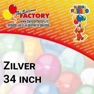 Folie Cijfers Zilver 34 inch