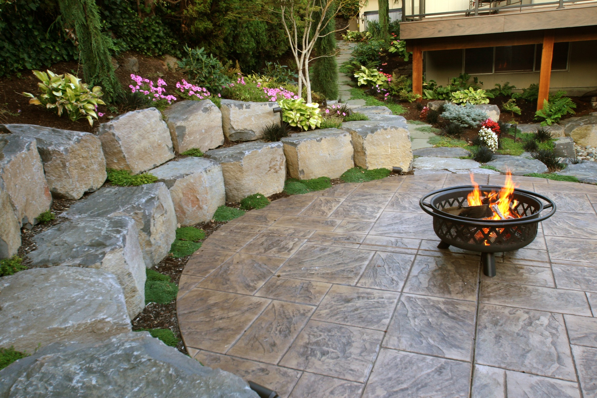 Hardscapes & Retaining Wall Contractors | GRO Outdoor Living on Backyard Hardscape Design id=89658