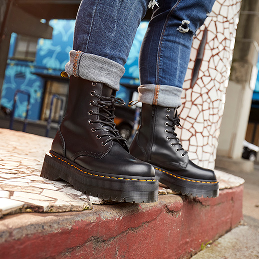 Floral Fever: Dr. Martens shoes at last get treatment Freedom
