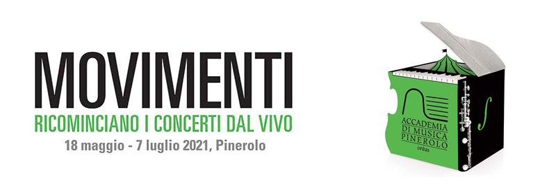 """""""movimenti"""", ricominciano i concerti dal vivo all'Accademia di Musica di Pinerolo"""