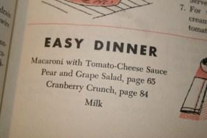 Easy Dinner