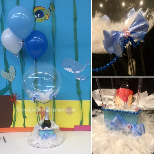 Blue Blur Bubbly in a Hot air Balloon