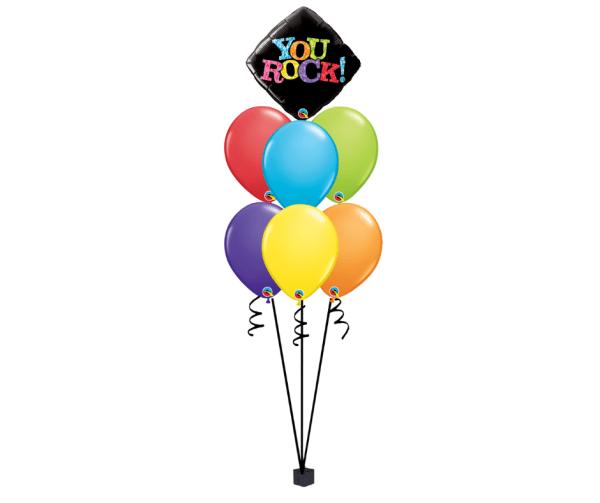 You rock Balloon bouquet