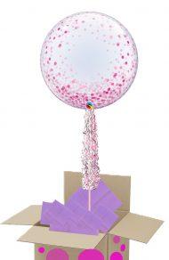 Pink Confetti bubble pop up