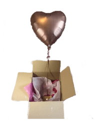 Pop up Soft Pink Heart with a dozen heart chocolates delivered