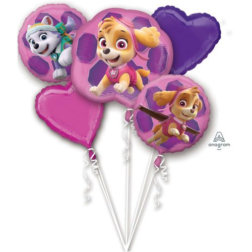 Pink Paw patrol balloon bouquet