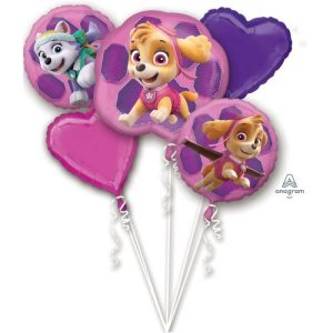 Pink Paw patrol balloon bouquet