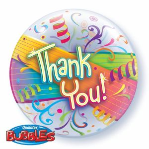 Large Clear balloon with thank you printed on it