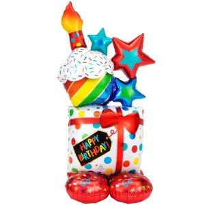 Large balloon shaped like presents