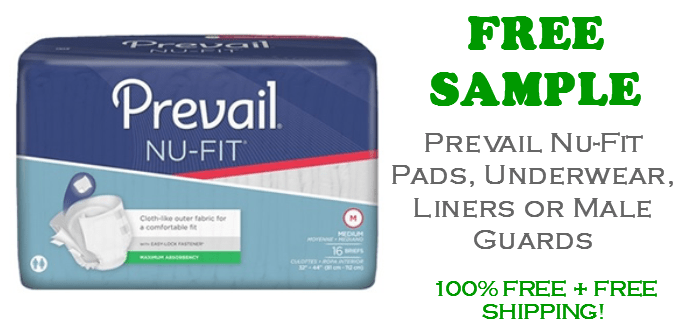 Prevail Nu Fit Briefs, Liners or Pads FREE Sample Pack