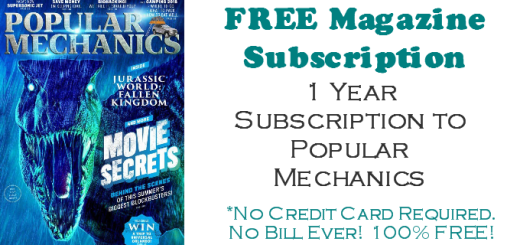 Popular Mechanics Magazine FREE SUBSCRIPTION