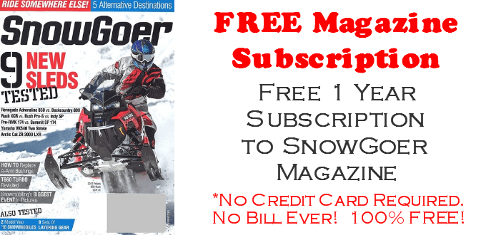 Snowgoer Magazine FREE Subscription