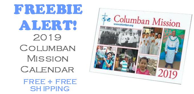 FREE 2019 Columban Mission Calendar