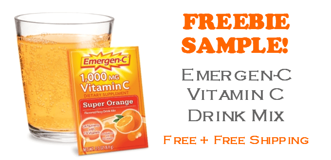 Emergen-C Vitamin Drink Mix FREE SAMPLE