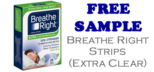 Breathe Right Nasal Strips Extra Clear Free Sample
