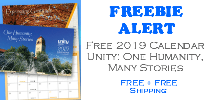 FREE 2019 Unity Calendar - One Humanity, Many Stories