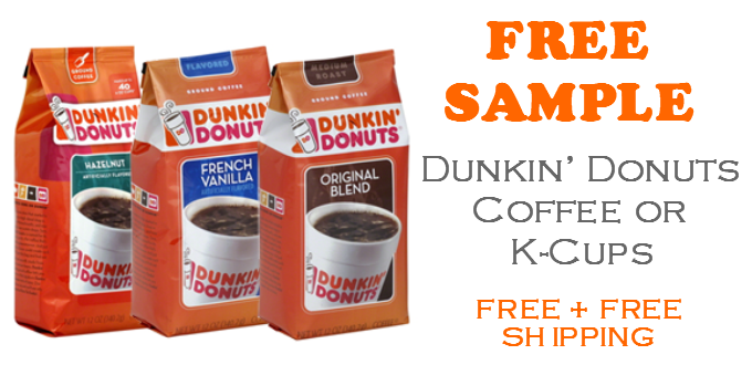 Dunkin Donuts Coffee FREE SAMPLE