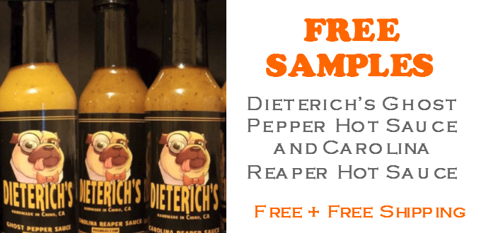 Dieterichs Hot Sauce FREE SAMPLE