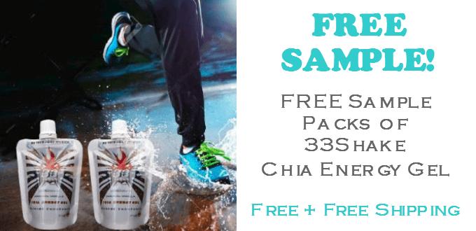 33Shake Chia Energy Gel FREE SAMPLE