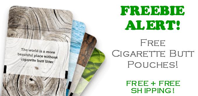 FREE Cigarette Butt Pouches