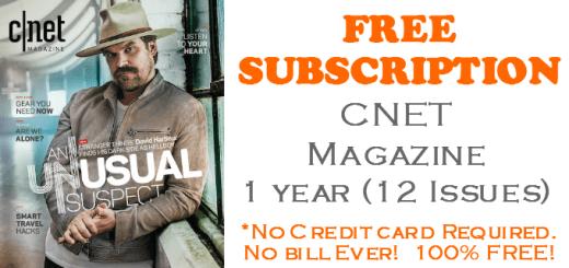 CNET Magazine FREE SUBSCRIPTION