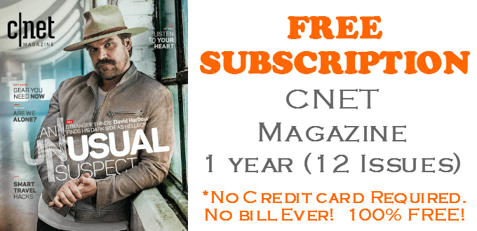CNET Magazine FREE SUBSCRIPTION