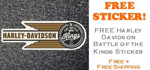 FREE Harley Davidson Battle of the Kings Sticker