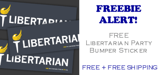 Libertarian Party FREE Bumper Sticker