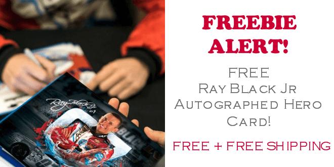 Ray Black Jr Autograph FREE Hero Card