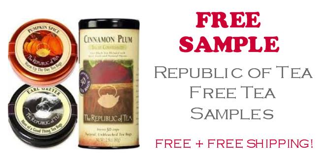 Republic of Tea FREE Sample Tea Bags
