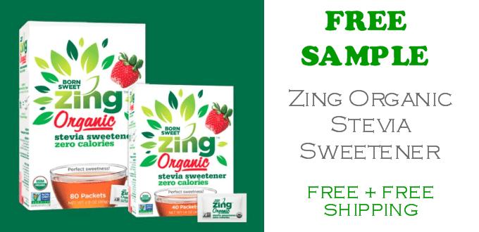 Zing Organic Stevia Sweetener FREE SAMPLE